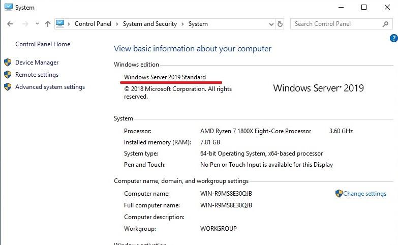 Апгред Windows Server 2016/2019 Evaluation (триальной) в полную